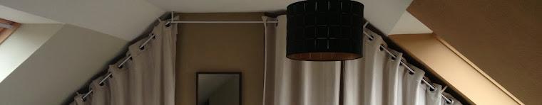 Dressing sous pente avec rideaux et autres d co dressing - Comment mettre des oeillets sur des rideaux ...