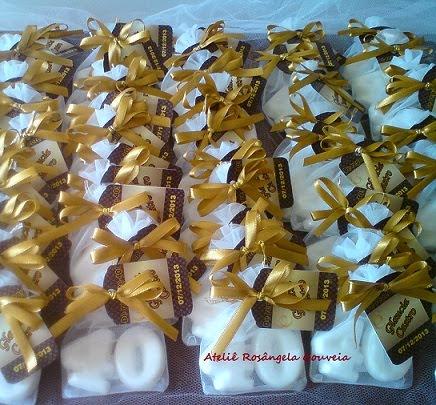 Sachês perfumados de sabonete para aniversário de 40 Anos