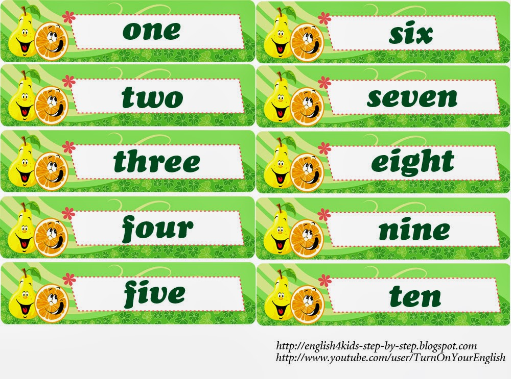 Fruits and Berries Song for Kids (+ Counting to 10)