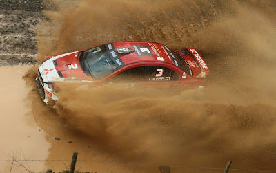 Mitsubishi Lancer Evolution in Mud Rally HD Car Wallpaper