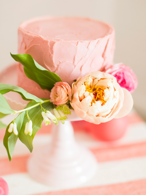 Flamingo Pop. A bridal collaboration with BHLDN and The House That Lars Built. Cakes by Tess Comrie of Le Loup. flowers by Ashley Beyer of Tinge. Photo by Jessica Peterson.
