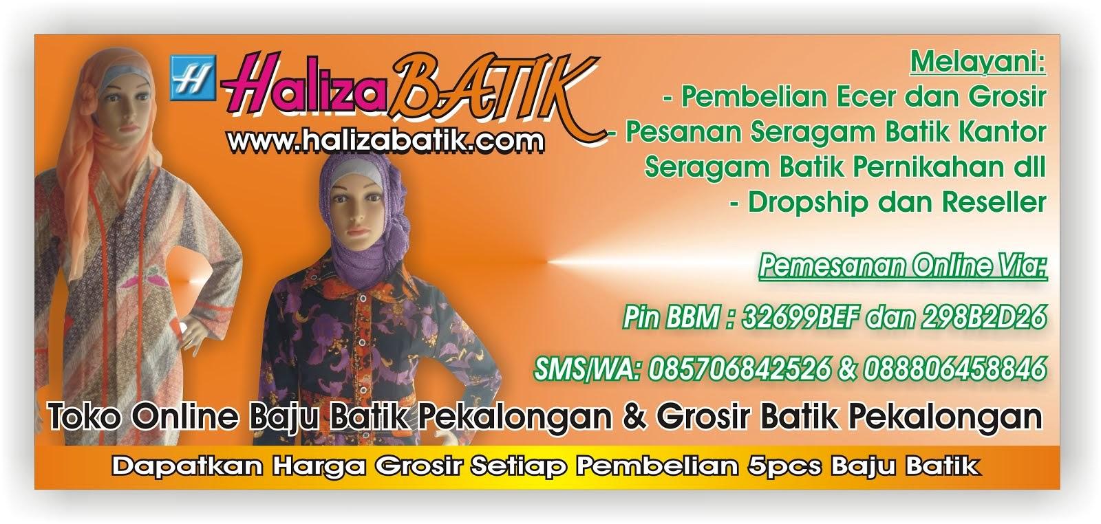 Batik Pekalongan Haliza, Baju Batik Haliza, Model Batik Haliza