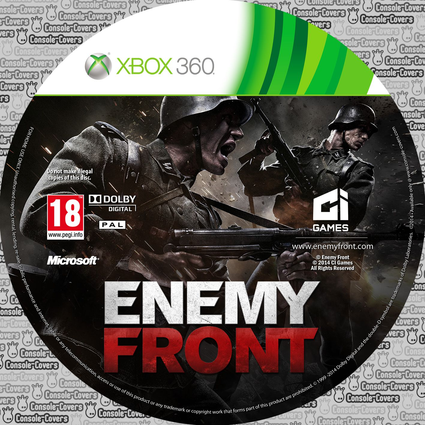 Label Enemy Front Xbox 360