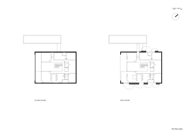 Floor plan of safest house second floor