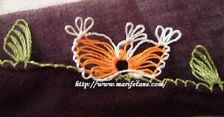 Kelebek modelli yemeni iğne oyası 2013