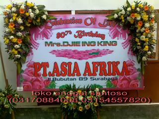 bunga papan ucapan banner digital printing untuk ulang tahun