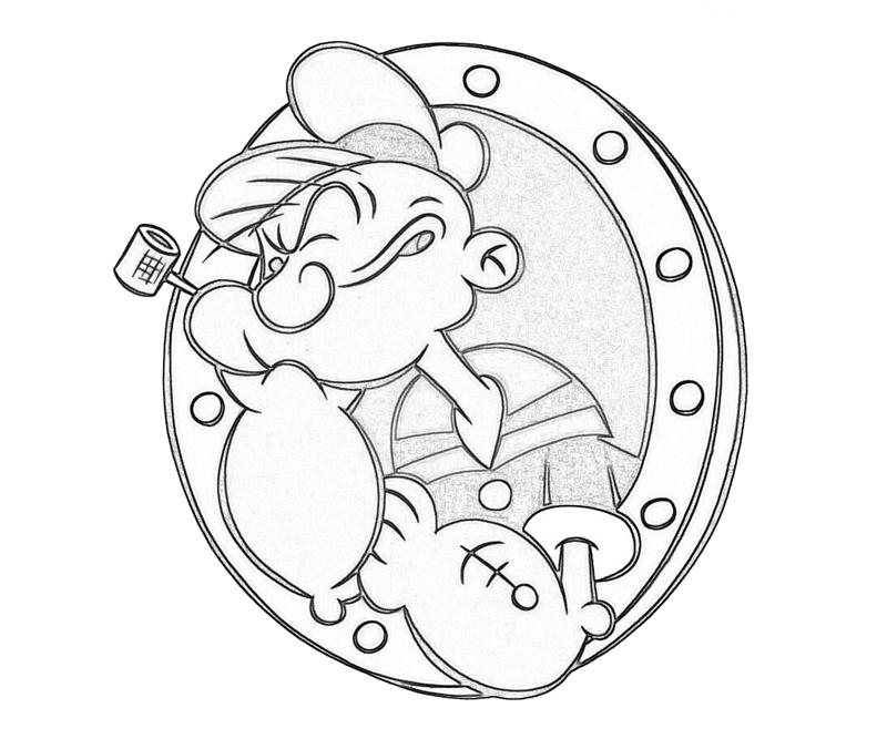 Popeye popeye logo supertweet for Popeye coloring pages