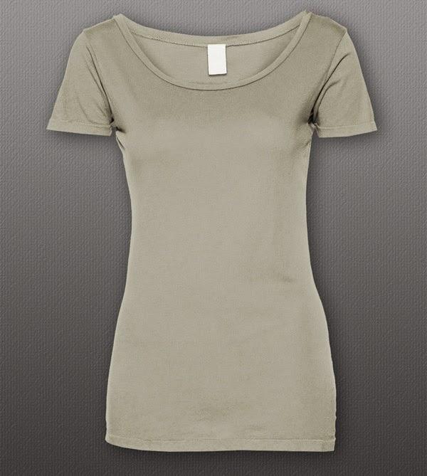 Download T-Shirt Mockup Terbaru Gratis - WOMEN'S SCOOP TEE BY THEAPPARELGUY