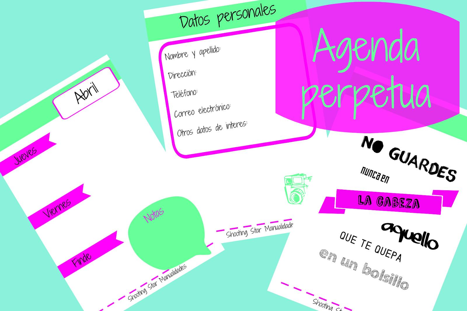 Imprimibles de agendas 2016 gratis 5 agendas imprimibles - Agenda imprimible 2017 ...