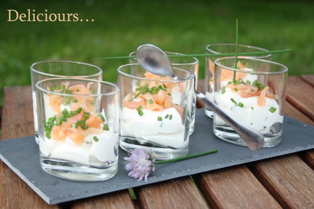 Deliciours verrines ricotta saumon - Verrine simple et rapide ...