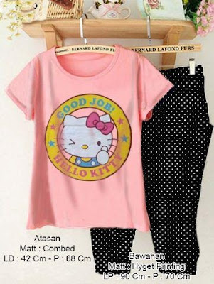Baju Setelan Setelan Hello Kitty Laugh - 10460