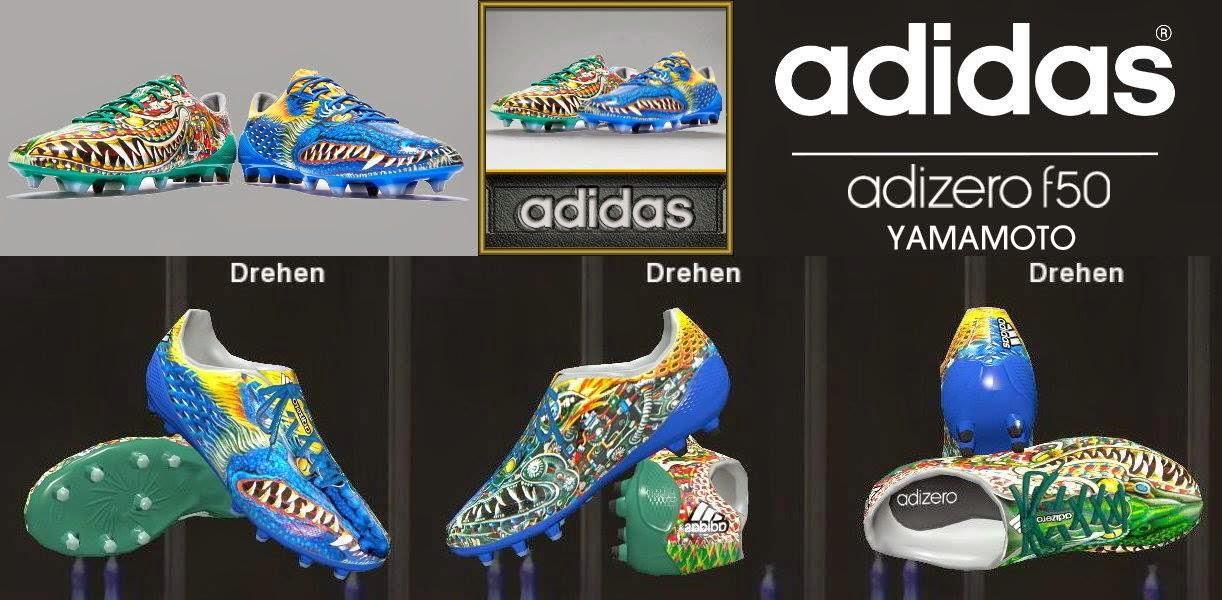 """PES 2014 Adidas adizero F50 """"YAMAMOTO"""" Pack Boots by Ron69"""