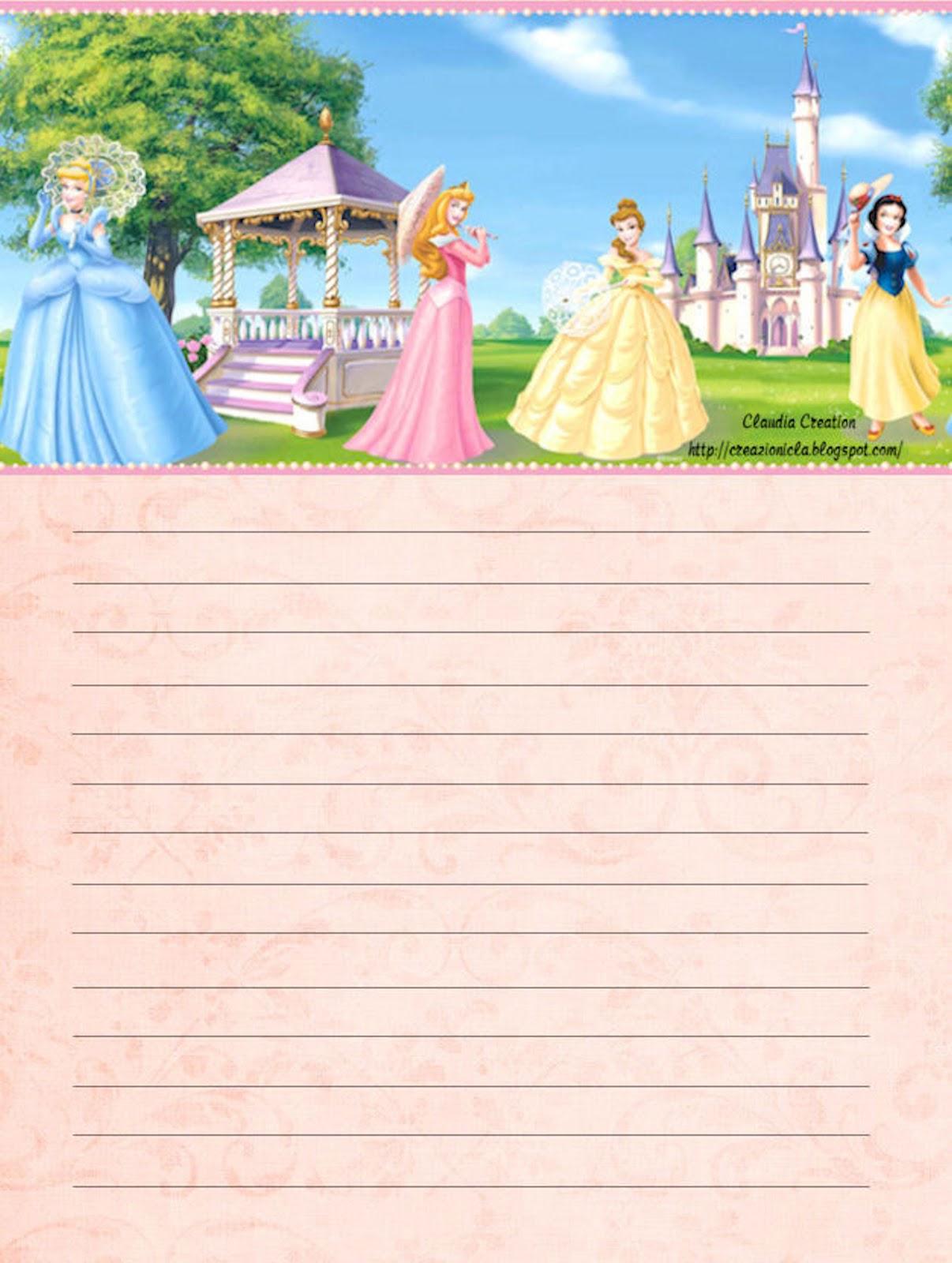 carta da lettere con cartoni disney