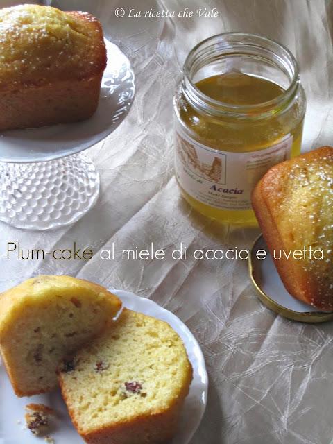 plum-cake con miele di acacia e uvetta