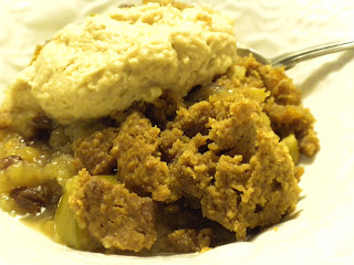 Wheat-Free / Gluten-Free Apple Cobbler with Vegan Topping