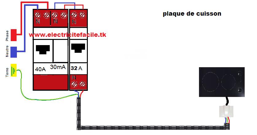 schema electrique schema electrique d 39 une plaque de cuisson electrique. Black Bedroom Furniture Sets. Home Design Ideas