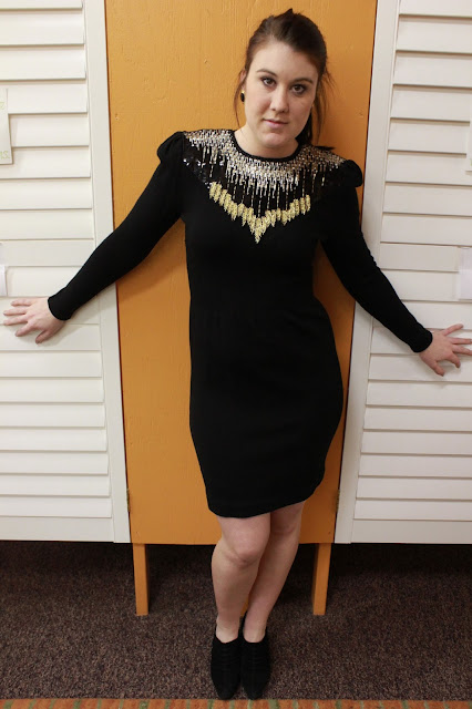 Fresh and Precious, Black Vintage Dress, Fall Fashion Trends, Second Time Around, Sequins