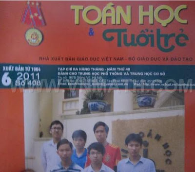 tap chi toan hoc tuoi tre so 408 thang 6 nam 2011