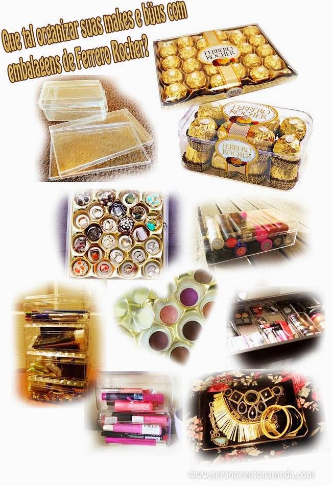 embalagens de Ferrero Rocher para organizar