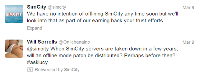 SimCity 5 fan take a crap all over SimCity's Twitter page.