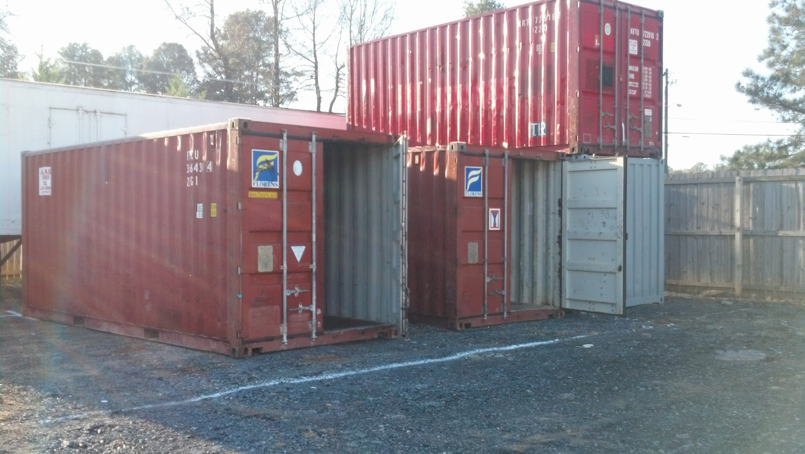 Shipping Container for Storage Staying Dry Inside Atlanta Used