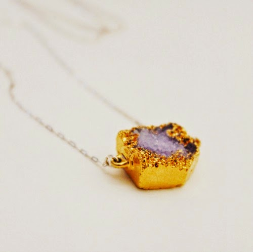 amethyst, sterling silver, and gold necklace / catherine masi
