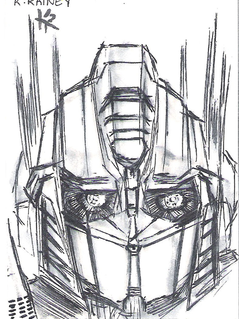 sketchbooksage optimus prime sketch card
