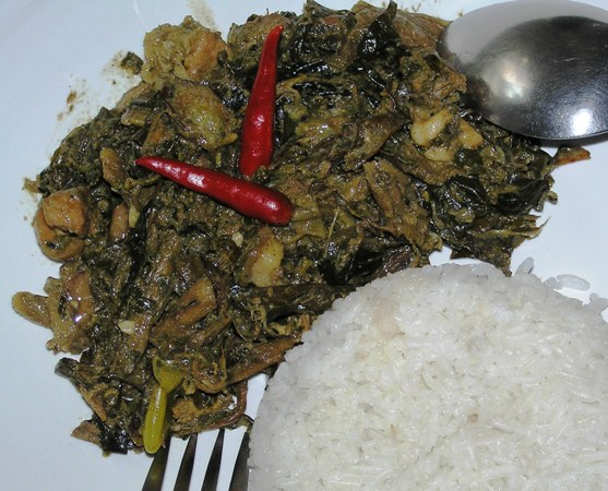 Spicy Laing With White Rice