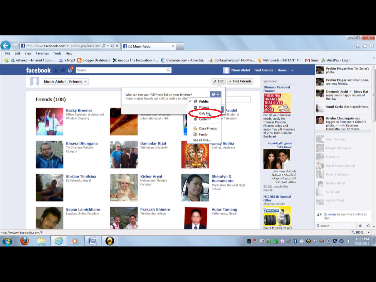 how to make friends not visible on facebook