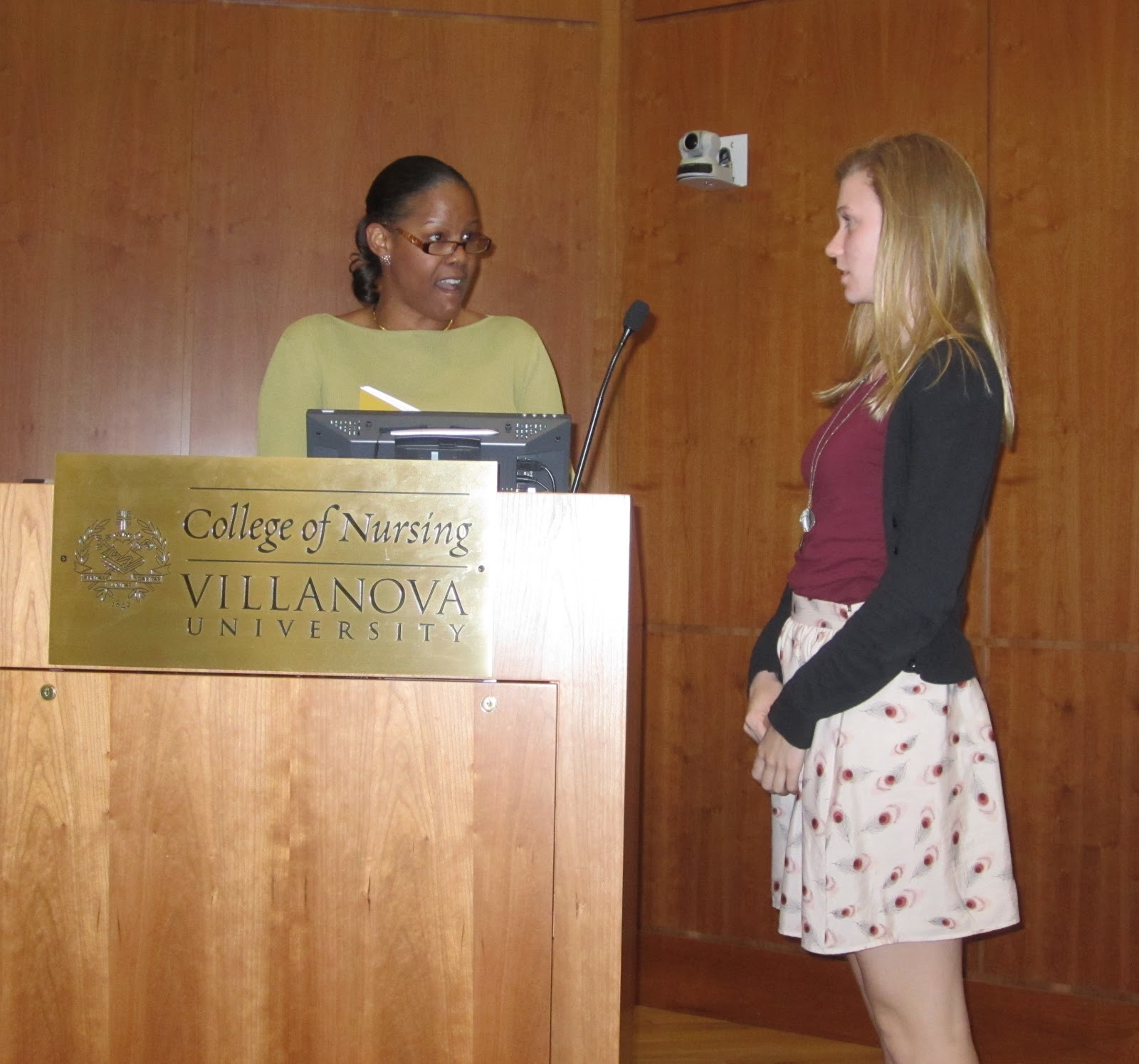villanova english pictures from the awards ceremony crystal lucky and shannon welch winner of the jerome j fischer memorial award for the most distinguished undergraduate essay written in a villanova