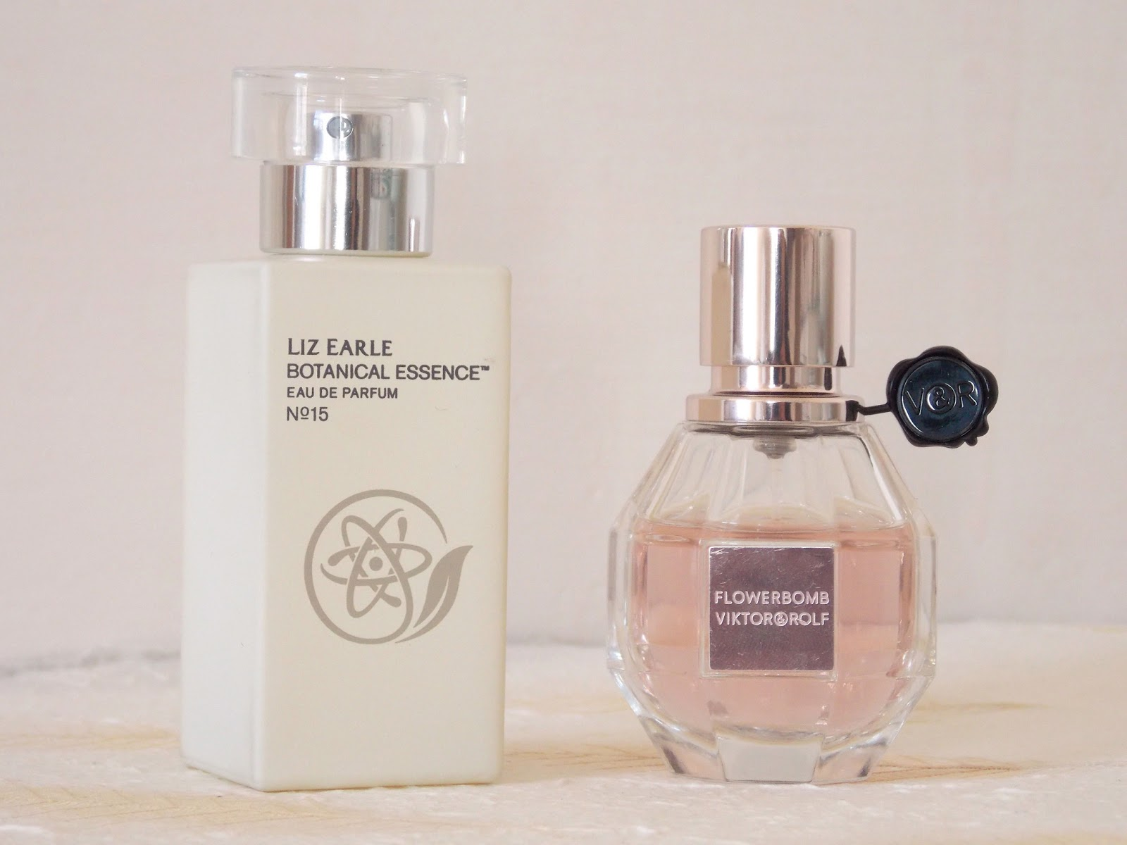 Liz Earle Botanical Essences No.15 and Viktor and Rolf Flowerbomb