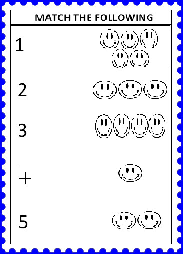 math worksheet : kinder smart work  worksheet 3 : Numbers 1 5 Worksheets For Kindergarten