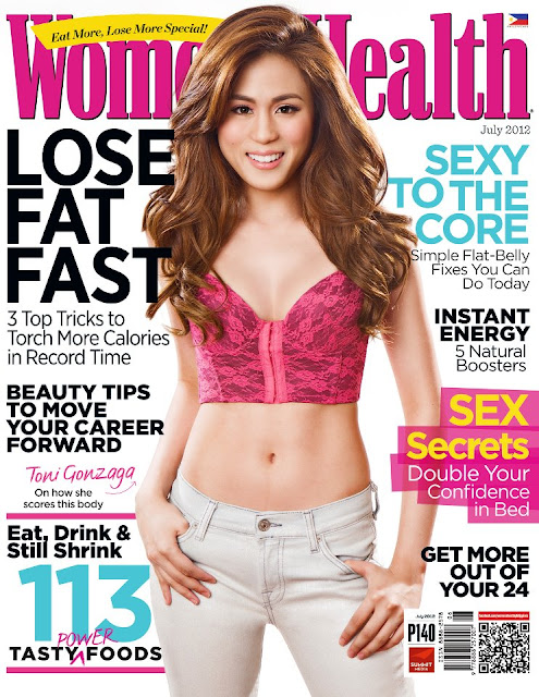Toni Gonzaga Covers Women's Health July 2012 issue
