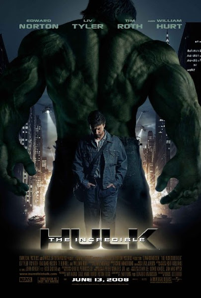 Poster Of The Incredible Hulk 2008 Hindi 720p BRRip Dual Audio Full Movie Download
