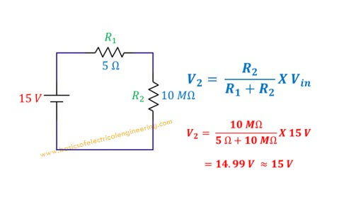 Voltage Divider Example 1 A Large Resistor Of 10 Mohm With A