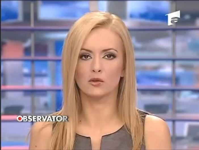 Spicy Newsreaders: Simona Gherghe very very hot newscaster of Romania