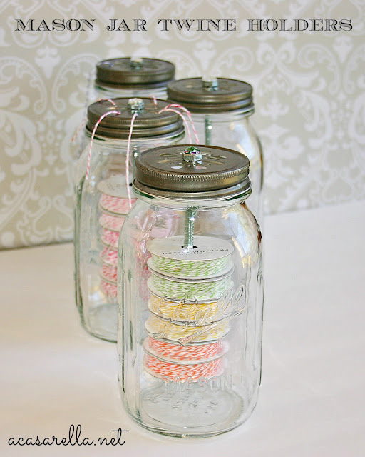 Make Your Own Mason Jar Organizer| Mason Jar Crafts, Mason Jar Ideas, Mason Jar Craft Ideas, Organizer DIY,  Organizer Ideas #MasonJarCrafts #OrganizerDIY #MasonJarDIY #OrganizerIdeas