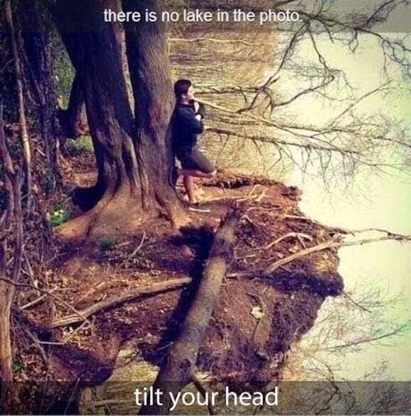 Awesome Illusions That May Make Your Brain Explode - Τhere is NO lake.
