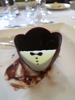 Chocolate Tuxedo Cup that was Filled with Fruits