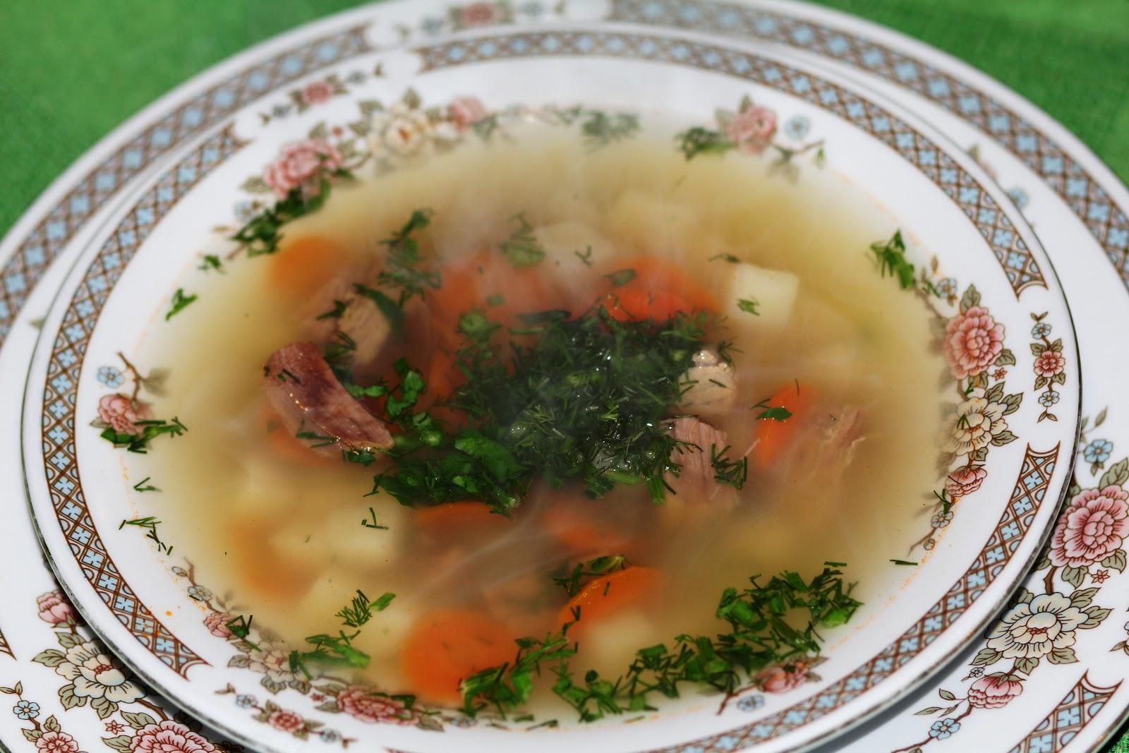 Диетический суп на мясном бульоне рецепт