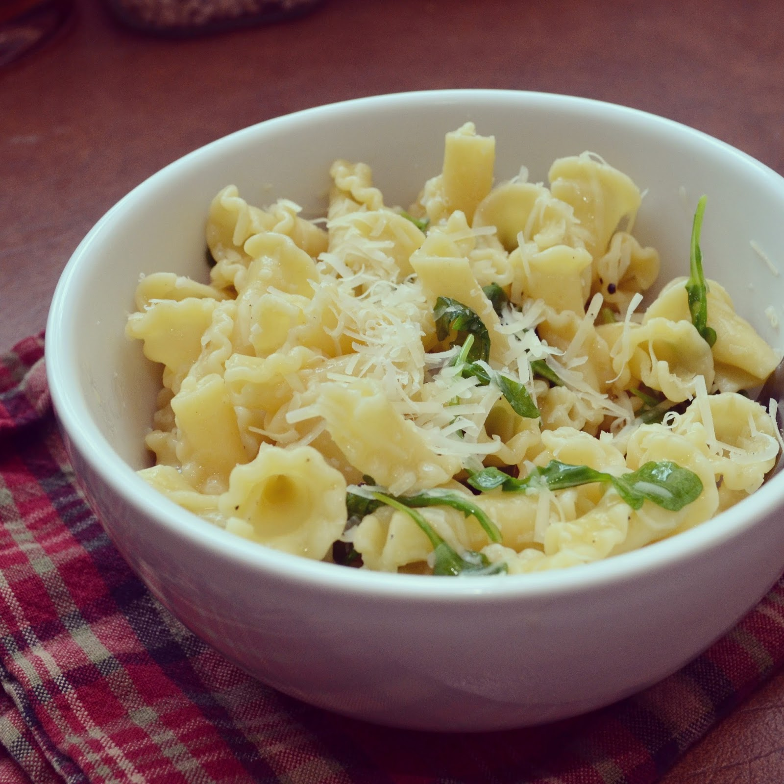 Truffle Butter Pasta a texas belle: lemon arugula pasta with truffle butter