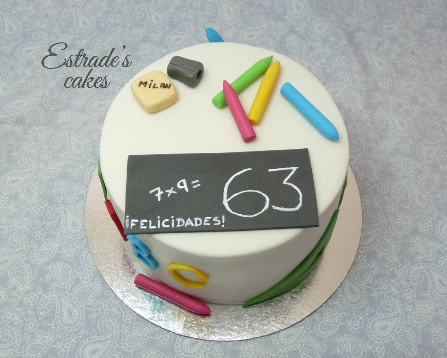 tarta maestro con fondant - 1