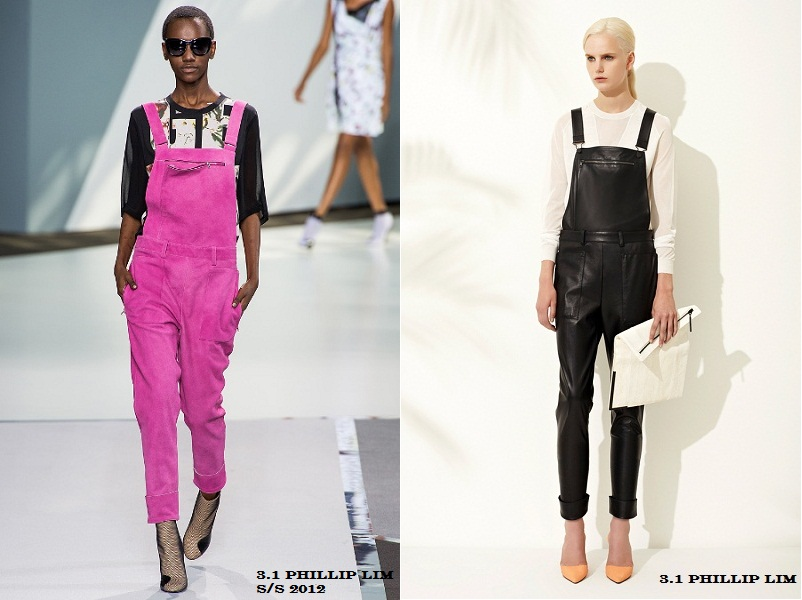 Dungarees, overall, trend, 3.1 Phillip Lim, leather dungarees