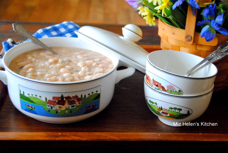 Herb White Bean Soup at Miz Helen's Country Cottage