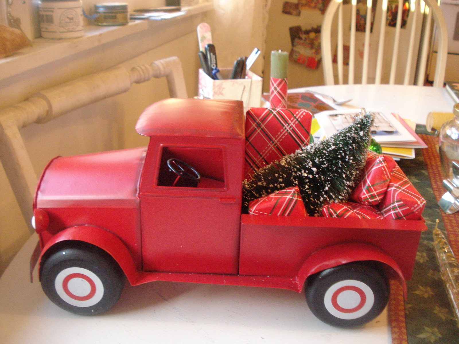 monday november 23 2015 - Red Truck Christmas Decor