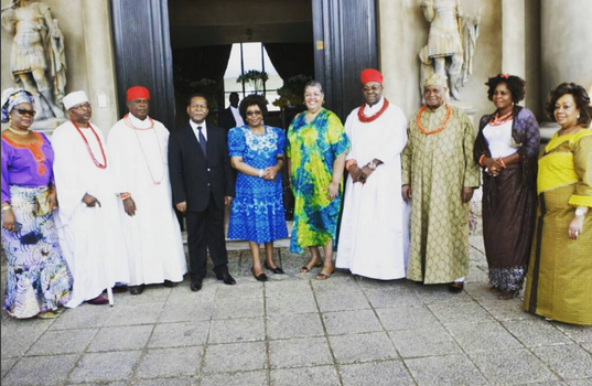 Sir Gabriel Osawaru Igbinedion celebrates 81st birthday party in his South African mansion!