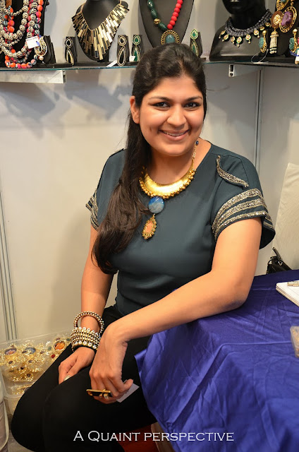 Khushboo Agarwal wearing one of her creations