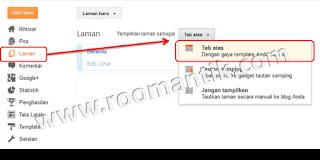 Menambah menu dropdown pada Tabs Horisontal Blogger Standar
