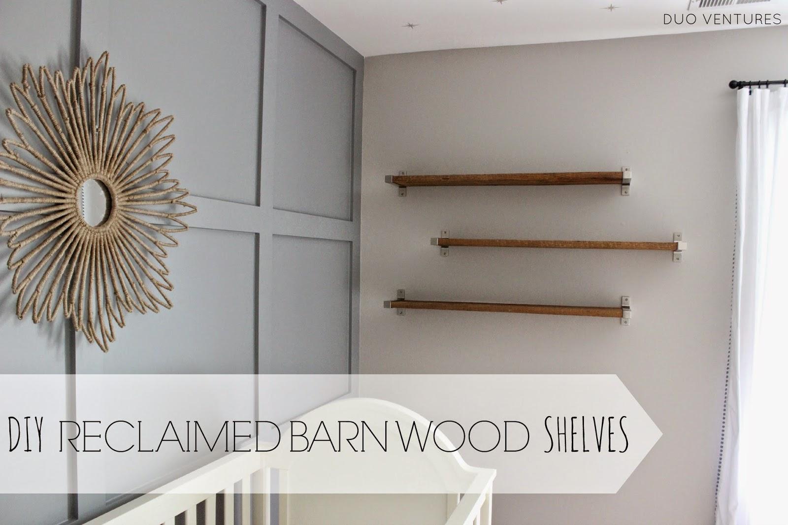 Barnwood shelving