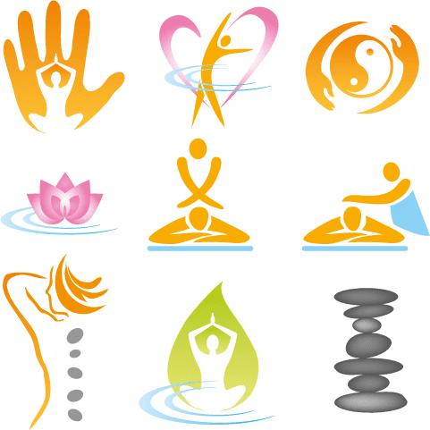 Logos de Yoga y meditación - Vector